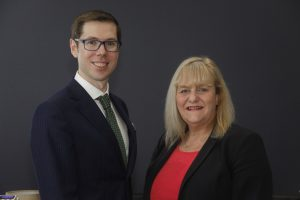Photo of cross border expert solicitor Paul Clark and STEP qualified Solicitor Pam Murphy